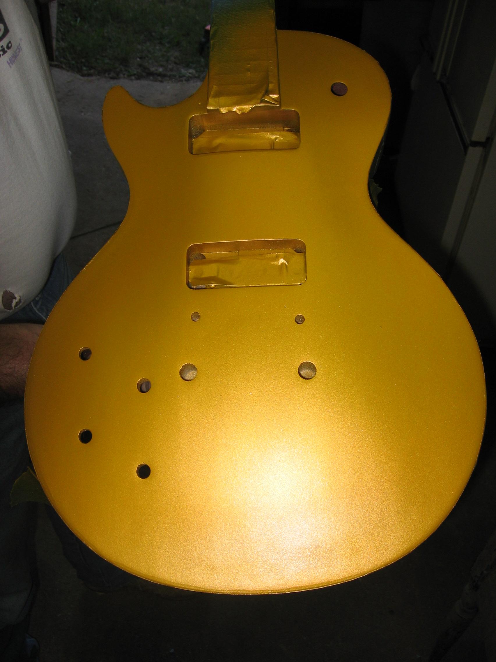 Gold Top LP Finish - Lambs Guitar Repair Fort Worth